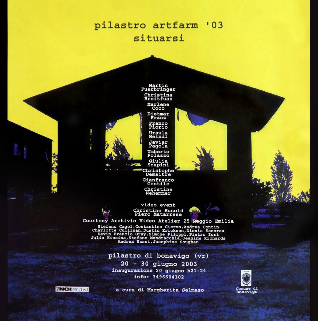 Situarsi - Artfarm 2003 - Edizione 2