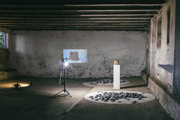 """Tiziano Bellomi, """"Coriandoli"""", """"Terra cruda"""", """"Cemento morsicato,"""" 2017"""