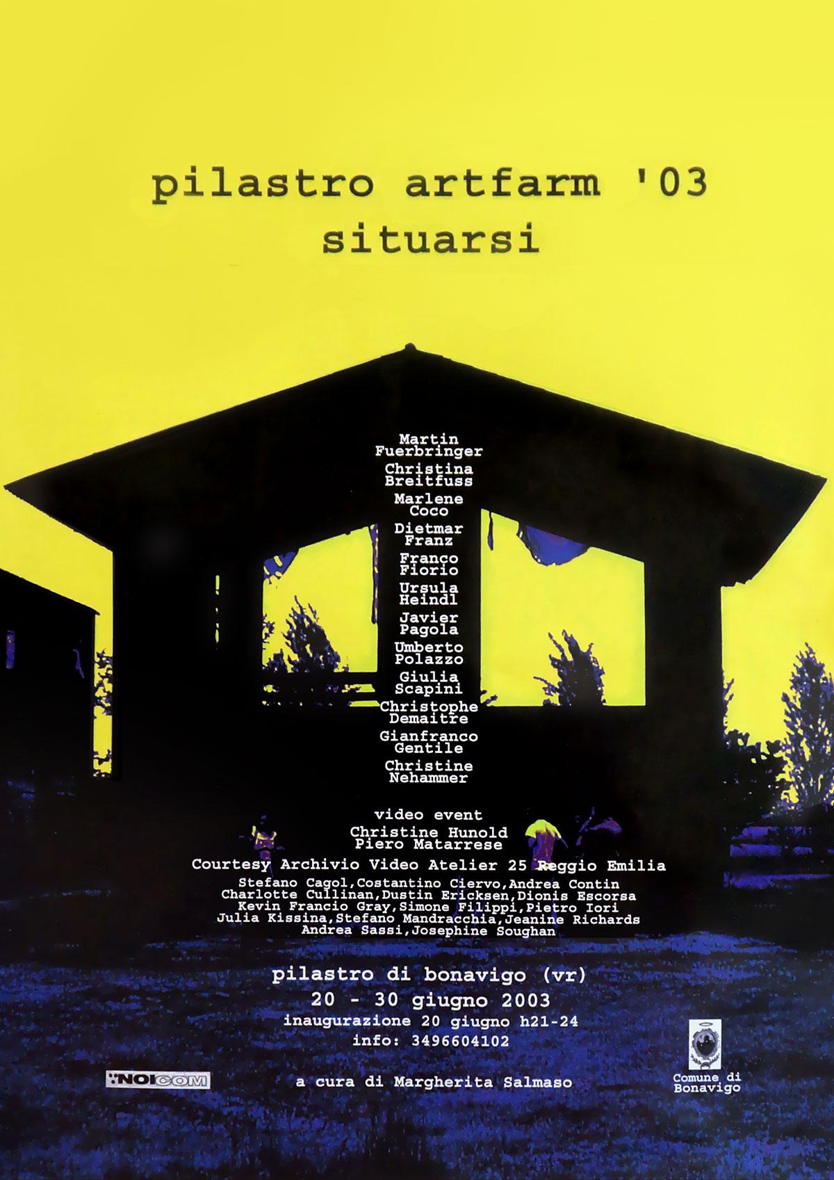 Situarsi - Artfarm Pilastro -2003